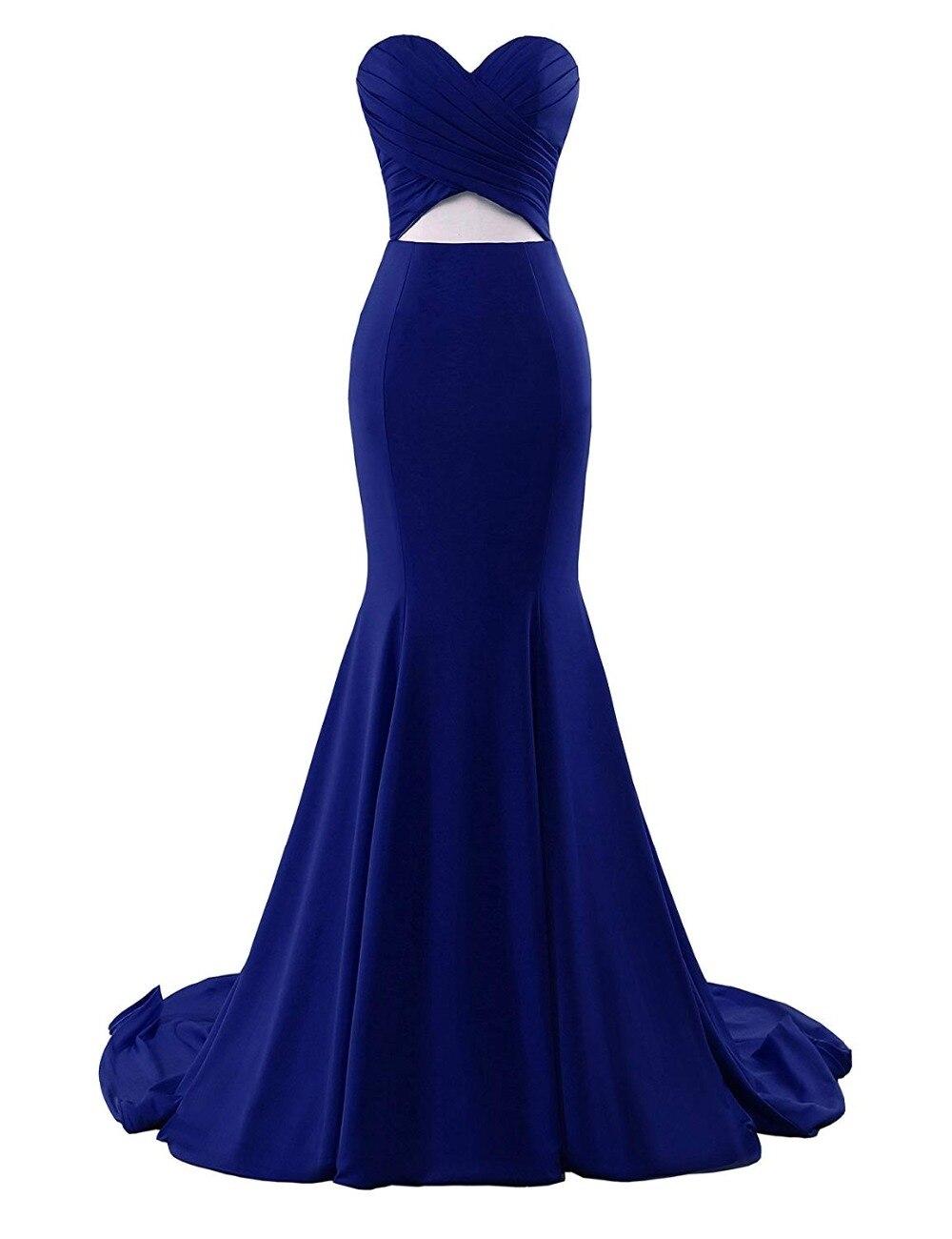 JaneVini vestido de fiesta de sirena rojo árabe 2018 escote corazón largo vestidos de dama de honor Sexy Dubai botón señora Formal vestido - 6