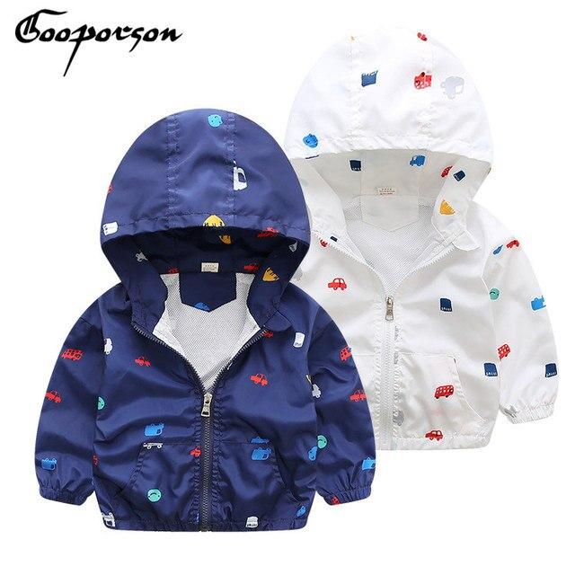 f0cfcd994 GOOPORSON Boys Jacket Printed Animal Hoody Wind Coat For Winter Baby ...