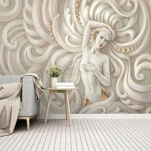 Пользовательские обои 3d скульптура красивый фон Фреска Высококачественный
