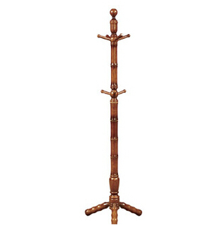 Free Shipping 180cm Solid Wood Coat Hanging Stand Walnut