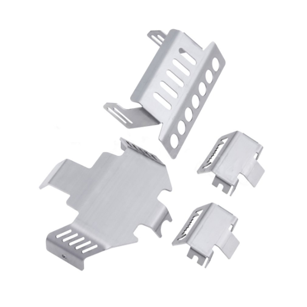 Ca4369 4Pcs Front Rear Axle Protective Guard Skid Plate Bumper Chassis Guard For Traxxas Trx 4 1 10 Rc Crawler in Parts Accessories from Toys Hobbies