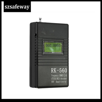 SZSAFEWAY RK560 50MHz-2.4GHz Portable Handheld Frequency Counter DCS CTCSS Radio Meter - discount item  33% OFF Walkie Talkie Parts & Accessories