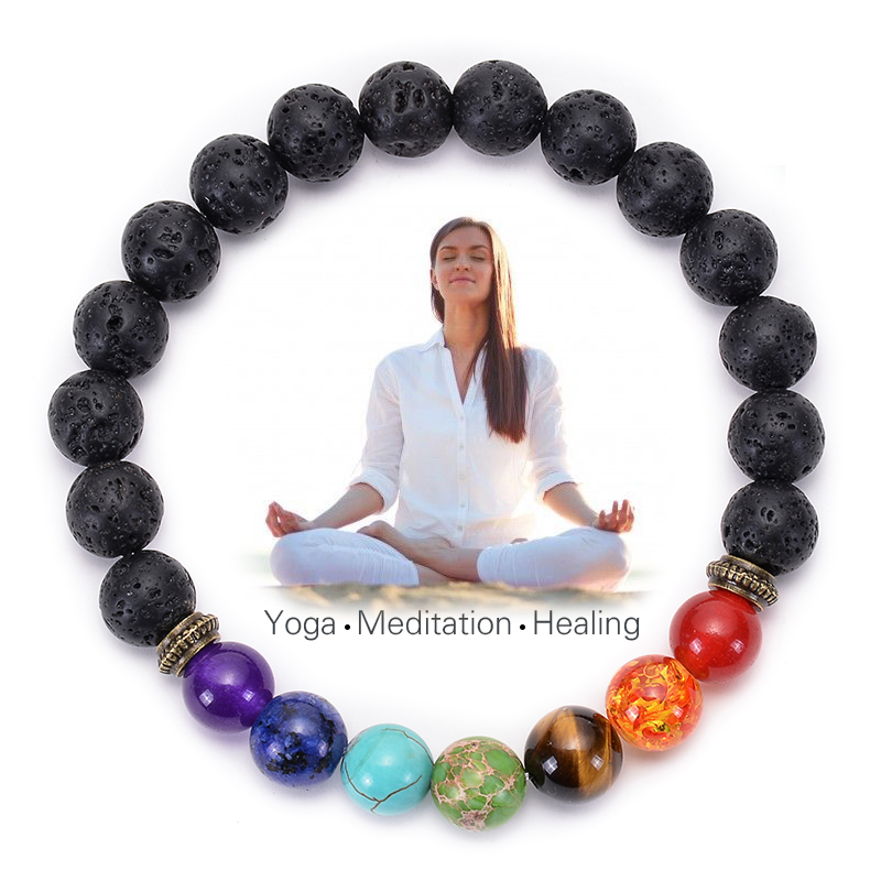 bracelet 7 chakra et méditation