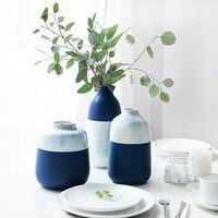 KINGLANG European ceramic vase home decoration living room decoration flower vase water culture flower pot