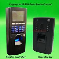 Биометрический отпечаток пальца и rfid контроль доступа с RS485 отпечатков пальцев и rfid ведомый читатель в и вне двери Система управления замко