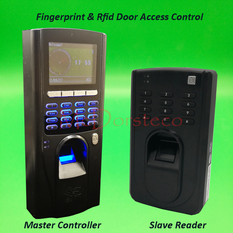Biometric Fingerprint and rfid Access Control with RS485 Fingerprint and rfid Slave reader In and out door lock control system outdoor mf 13 56mhz weigand 26 door access control rfid card reader with two led lights