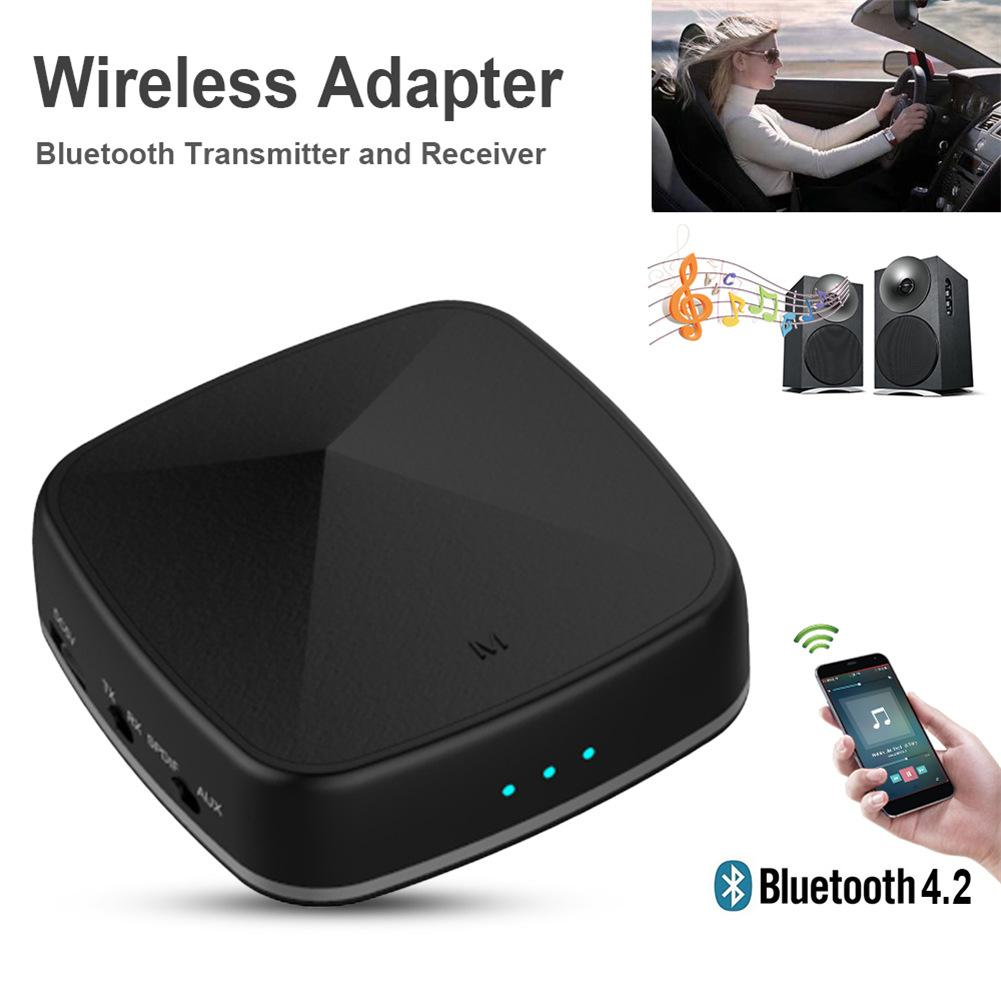 New Optic Fiber 2-In-1 Bluetooth Wireless Adapter Bluetooth Transmitter Receiver support APT-X AAC Audio Adapter TV Transmitter bti 010 2 in 1 bluetooth transmitter