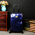 NEW Matte personality Meteorite has Damaged Travel Trolley Case hardside rolling luggage suitcase with wheels