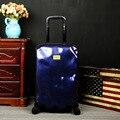 NUEVA Mate personalidad Meteorito ha Dañado de Viaje Caja De La Carretilla hardside maleta maletas con ruedas maleta con ruedas