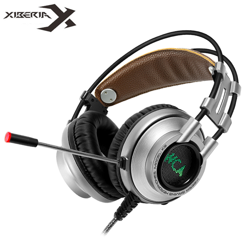 XIBERIA K9 Gaming Headphones casque Super Stereo Bass Best Computers PC Gamer Headbands Headset with Mic / LED Breath Light xiberia k9 usb surround stereo gaming headphone with microphone mic pc gamer led breath light headband game headset for lol cf