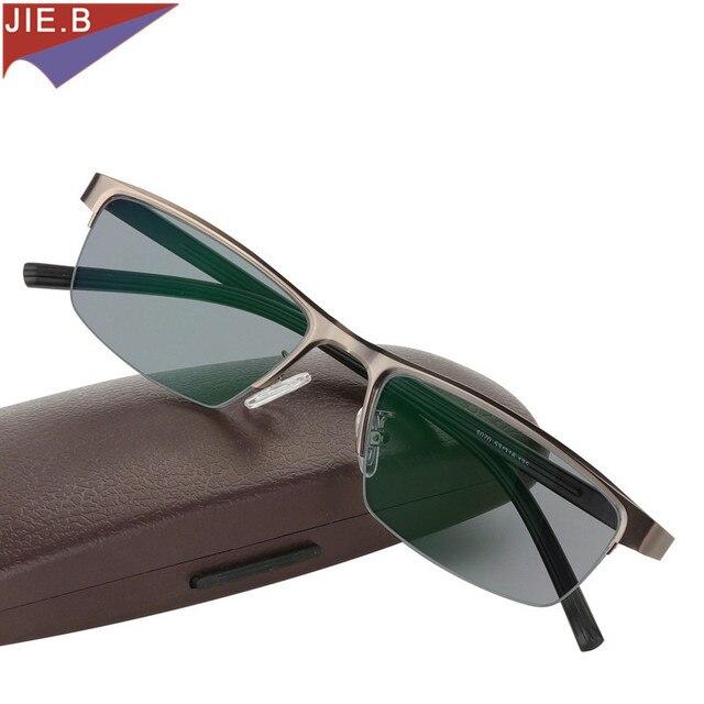 2017 marca la moda nueva transición sol Photochromic gafas hombres Marco de  aleación de titanio hombres efc741ee3f