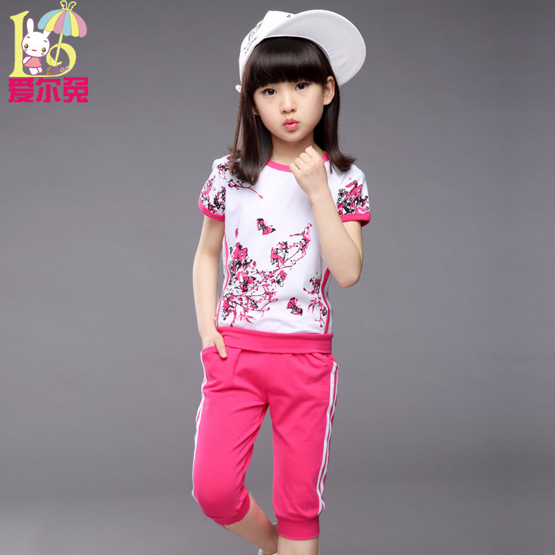 ФОТО Children's clothing female child  summer clothes women's casual short sleeve little girl sports