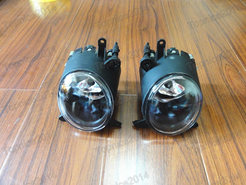 2Pcs Front Clear Lens Car Fog Lights Driving Lamps W/Bulbs Left + Right for Mitsubishi Lancer CJ 2007.9-12 Year 2pcs left