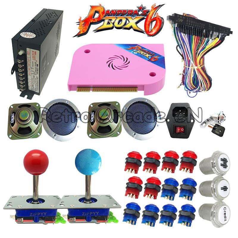 Più nuovo 3D Tekken kit FAI DA TE con Pandora Box 6 pcb 1300 in 1 di alimentazione joystick LED pulsante Per arcade gioco macchina mobile