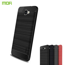 MOFi For Huawei Y7 2017 Case Armor Shockproof Cover Carbon Fiber Silicon TPU