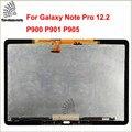 Испытано Сенсорный Экран Для Samsung GALAXY Note PRO 12.2 P900 P901 P905 жк-дисплей + Сенсорный экран Планшета Стеклянная Панель