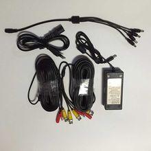 Fuente de alimentación de 12 V DC 3 Amp AC / DC adaptador de 4x divisor añadir BNC 20 M Power Video Plug Cable de alimentación DC CCTV cámara de seguridad