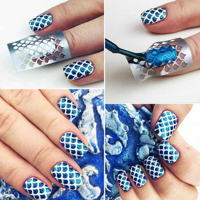 DIY Manicure Stencil Reusable Nail Art