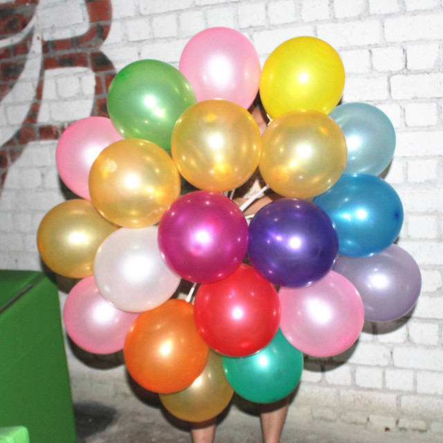 100pc 7inch 1 5 G Colorful Balloons Pearl Color Latex Balloons Small