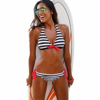 Low Waist Striped Summer Beach Sexy Bikinis Women Swimsuit Bikini Set Swimwear Bathing Suit S M
