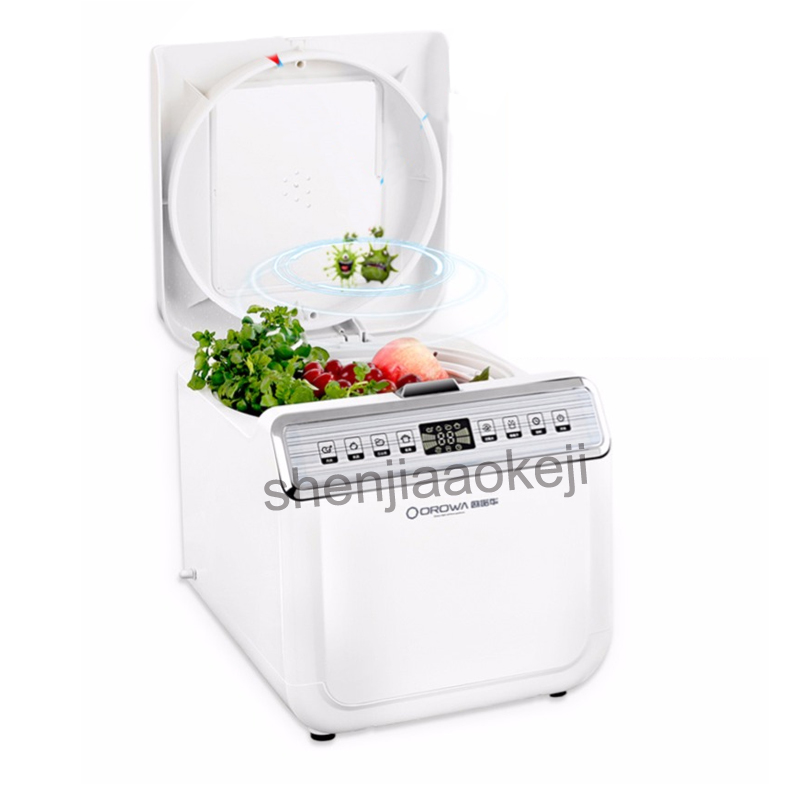 Household ABS Fruit vegetable washing machine automatic ozone disinfection Plasma cleaner 200mg/h Oxygen generation 220v household fruit and vegetable disinfection machine automatic ozone washing machine decomposition pesticide sterilization