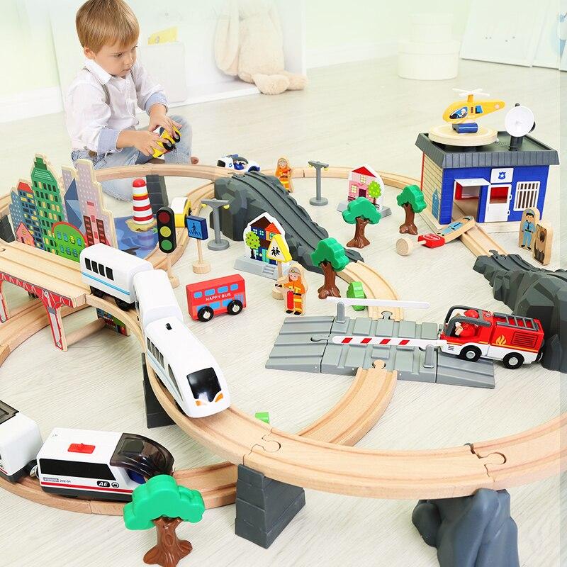 Oyuncaklar ve Hobi Ürünleri'ten Pres Döküm ve Oyuncak Araçlar'de Ahşap Trenler Parça oyuncak seti Büyülü Brio Parça İstasyonu Köprü Aksesuarları Demiryolu Modeli Eğitici 3D Pulzze Oyuncaklar Çocuklar Için'da  Grup 2