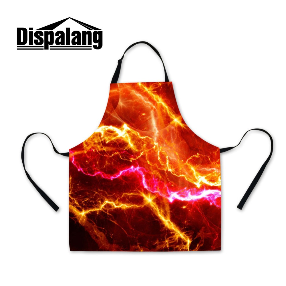 Dispalang Fashion Men Style Apron Good Quality Custom Made Starry Sky Printing Polyester Kitchen Aprons All Kinds Promotional