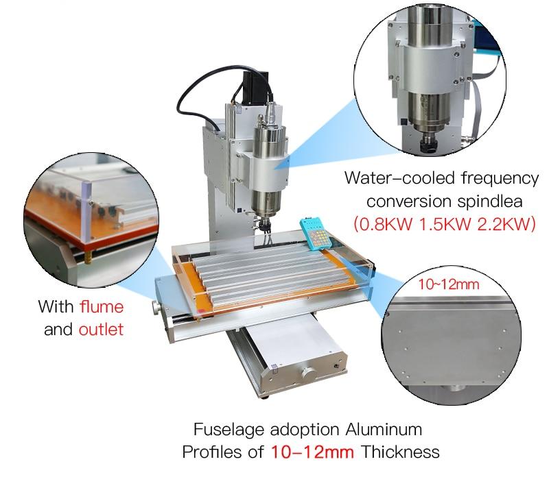column type cnc 6040 2.2KW metal engraving machine   (8)