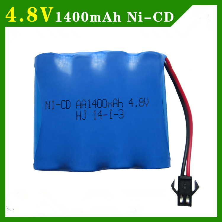 4.8v rechargeable battery 1400mah ni-cd battery nicd AA 4.8v pack 4.8v 1400mah batteries not nimh for cars 4.8v RC boat