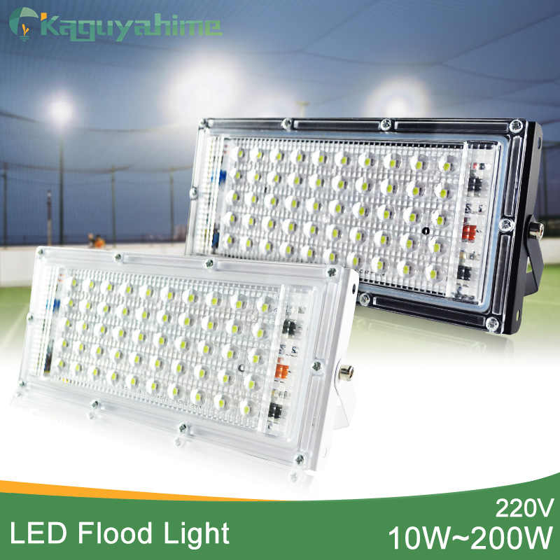 Kaguyahime LED Flood Light AC 220V 240V Floodlight Outdoor Spotlight 50W 10W Waterproof IP65 Street Lamp Wall Reflector Lighting