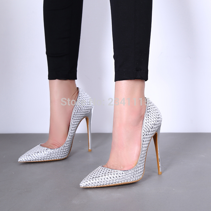 De Noir Partie Color Mariage Feminino Haute Stilettos Chaussures Color 8 Tenis Cm Femmes Date Showed Tricoté Cuir 10 As En Brillant Pompes as 2017 Talons Argent Or T7aqW