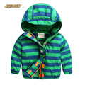 Children Fleece Jackets For Boys Coat Striped Baby Boy Clothes Autumn Hooded Windbreaker Kids Outerwear Clothing Warm Parka 2-7Y