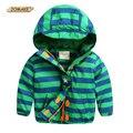 Crianças Velo Jaquetas Para Meninos Casaco Listrado Bebê Menino Roupas de Outono Blusão Com Capuz Crianças Outerwear Parka Quente Roupas 2-7A