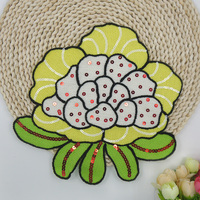 2Pcs Large towel embroidered yellow flower cloth patch clothes repair clothing chest accessories DIY patch accessories A862