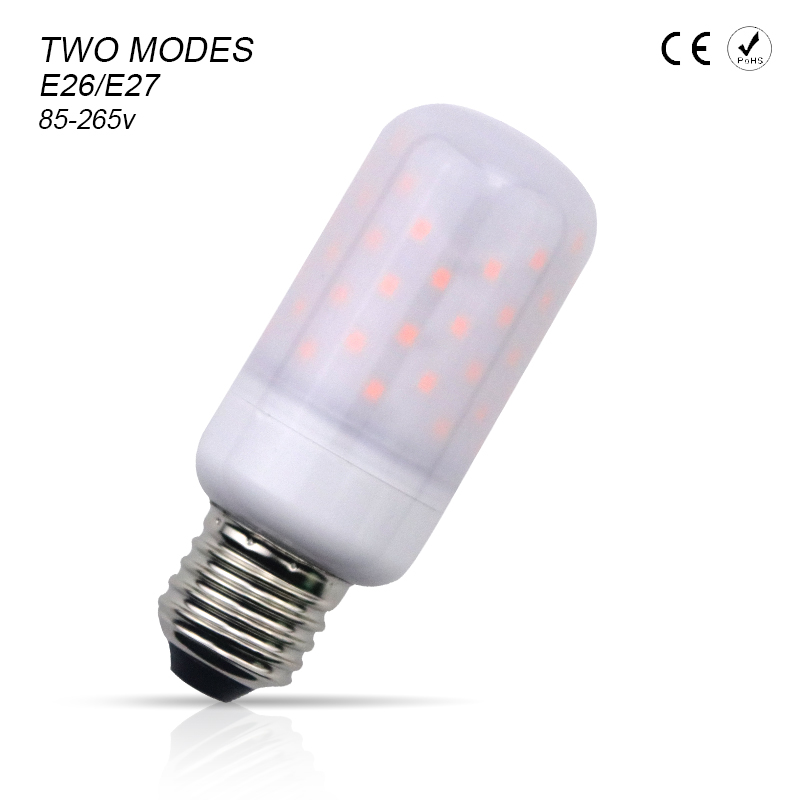 LED Flame Effect Bulb E27 E26 E14 AC85-265V SMD2835 Two Modes LED Candle Bulb Flame Lamp Flickering Fire Lights Decoration Lamp