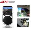 Wireless Bluetooth Handsfree Car Kit Solar Power Speakerphone  Stereo Bass For Mobile Phone Dual Phone Connect with LCD display