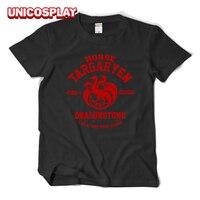 Game Of Thrones Targaryen House T Shirt Dragonstone Tee Halloween Letter Tshirt For Women Men Black