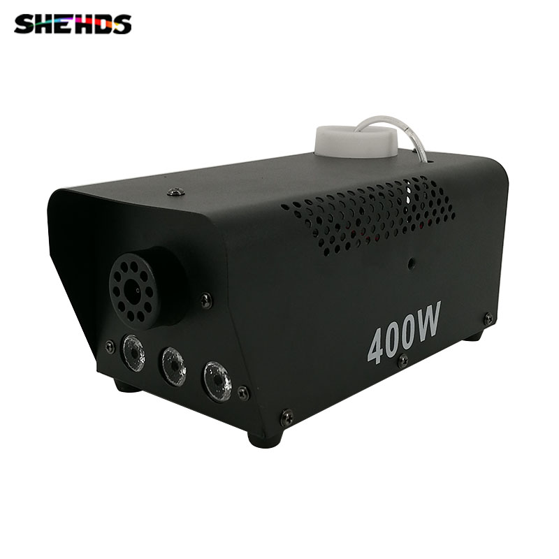 2pcs/lot SHEHDS Mini 400W RGB 3IN1 Smoke Machine for DJ Disco Party Weedding Stage Fogger Machine Wireless Remote Control