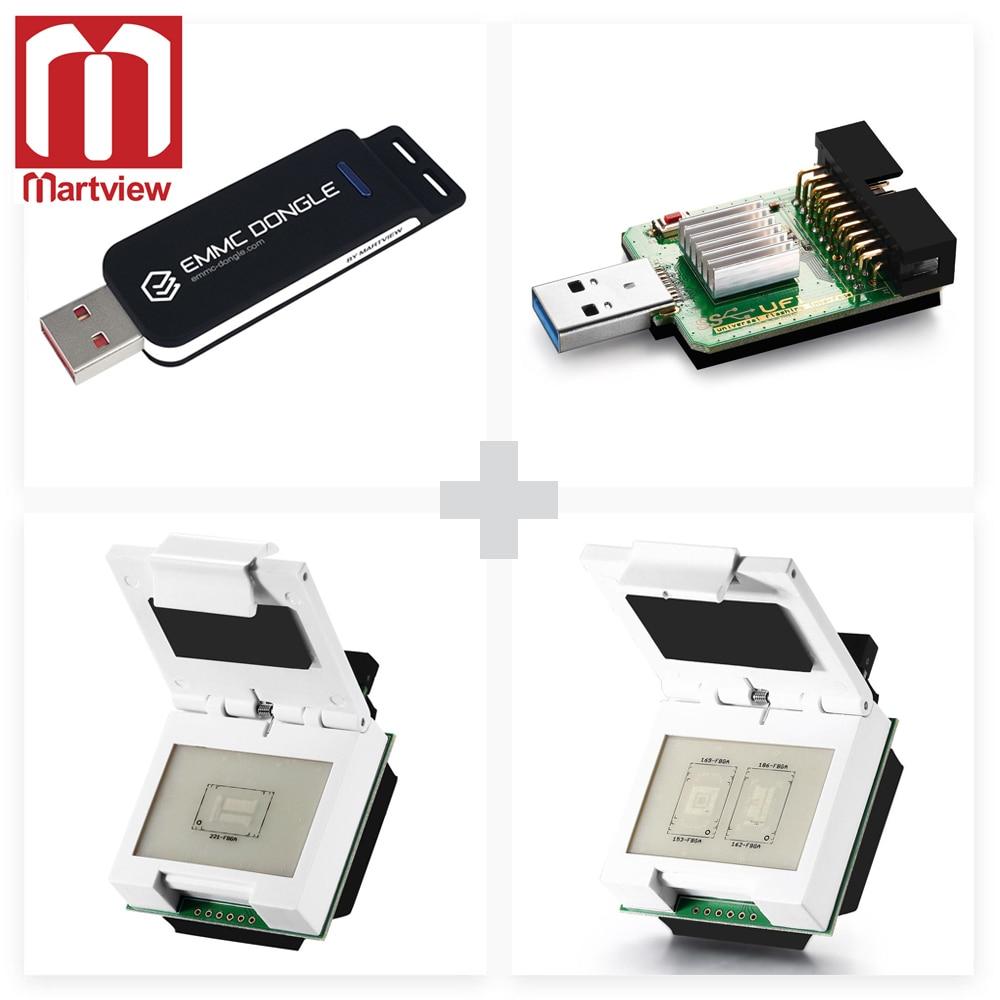 Usb3.0 Superspeed Usd/emmc Reader Refreshment Martview Emmc Dongle Come With Emmc/emcp Socket 2 In 1 Emmc/emcp Socket