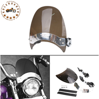 1Set Motorcycle Windscreen Windshield Cover For Harley Dyna Wide Super Low Glide 883 1200 Yamaha Honda
