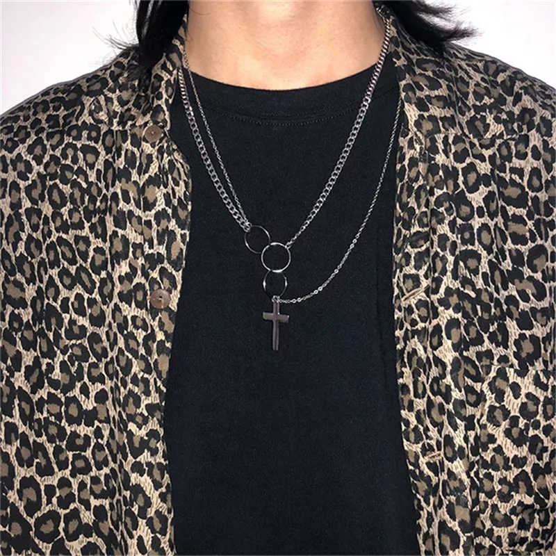 hiphop chain men women couple Stainless steel Necklace Waterproof Link Curb Chains necklace hip hop jewelry cross chain necklace