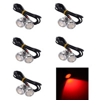 10X 23MM 9W LED Eagle Eye Red Daytime Running DRL Light Car Motor Truck Lamp 12V