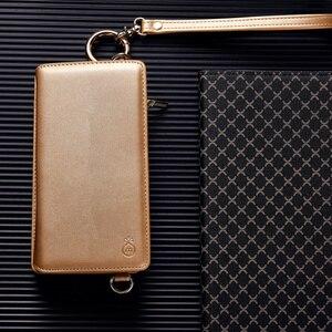 Image 3 - Musubo moda dziewczyna skórzany pokrowiec na iPhone SE 7 Plus luksusowa torba na telefon wyposażony pokrowiec na iphone 8 Plus 6 6s kobiet portfel Coque