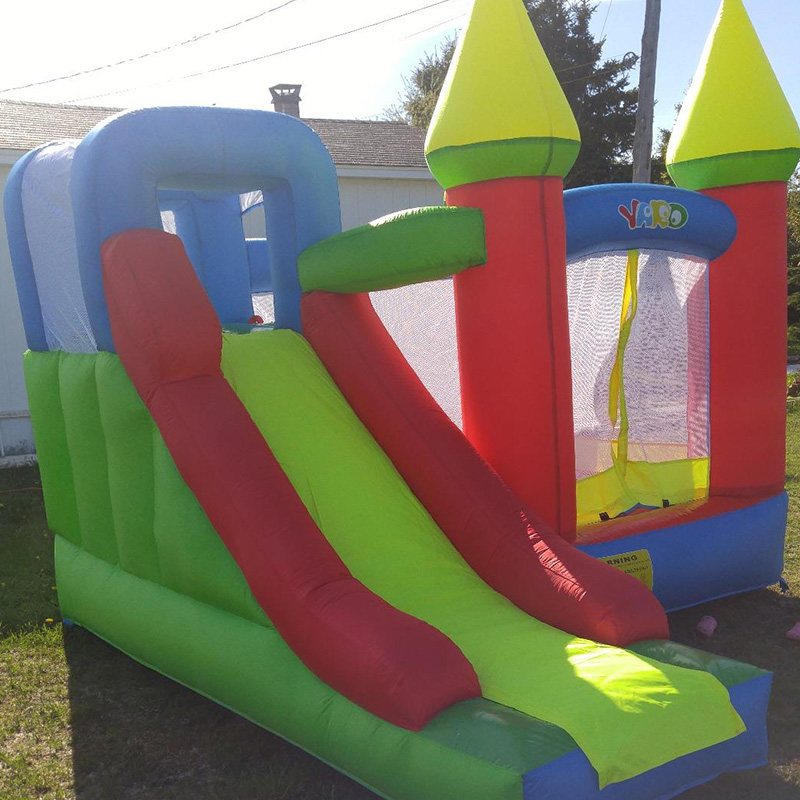 YARD bouncy castle Inflatable Jumping Castles trampoline for chIldren  Bounce House Inflatable Bouncer Smooth Slide With Blower yard residential inflatable bounce house combo slide bouncy with ball pool for kids amusement