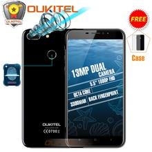 Oukitel U20 плюс двойной Камера мобильного телефона MTK6737T Восьмиядерный отпечатков пальцев ID 5.5 «FHD 2 ГБ + 16 ГБ Android 6.0/7.0 3300 мАч смартфон