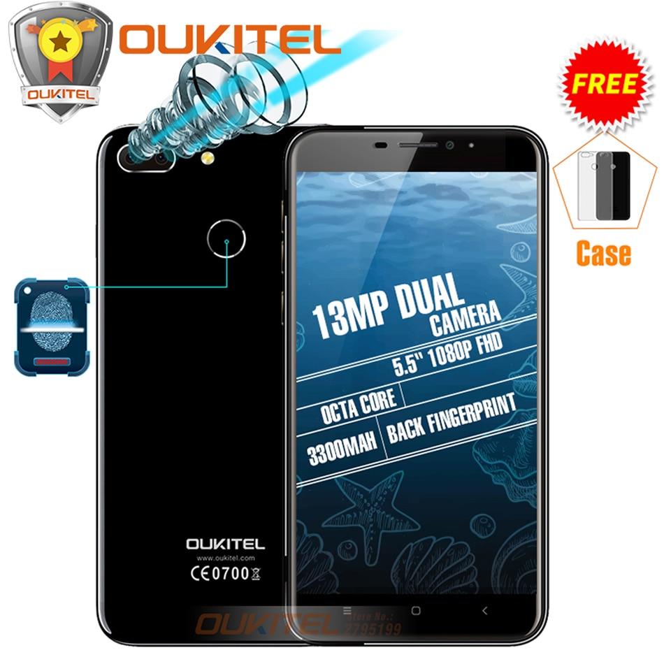 """bilder für Oukitel U20 Plus Dual-kamera Handy MTK6737T Octa Core Fingerabdruck ID 5,5 """"FHD 2 GB + 16 GB Android 6.0/7,0 3300 mAh Smartphone"""