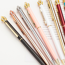 Creative 1.0 mm Cute Kawaii Diamond Pen Golden Crown Ballpoint Pens Writing School Office Supplies For