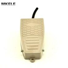 MKEKW-5A-B norma de Seguridad CE certificado SPDT 15A 250VAC interruptor de pedal eléctrico industrial de alta calidad De Aluminio con pulsador