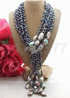 Pearl&Paua Abalone Shell Necklace Necklace