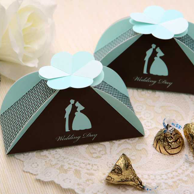 Bride And Groom Wedding Candy Box Pearl Paper Folding DIY Gifts Unique Gift Box Decoration Ideas
